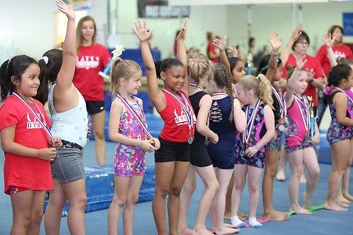 Kids Gymnastics Winning Awards