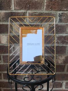 Modern Geometric Gold Frame