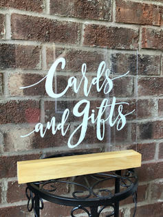"""""""Cards and Gifts"""" Acrylic Sign"""