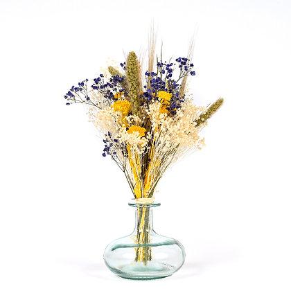 Vase de Fleurs séchées  - Setaria S - Parme doux