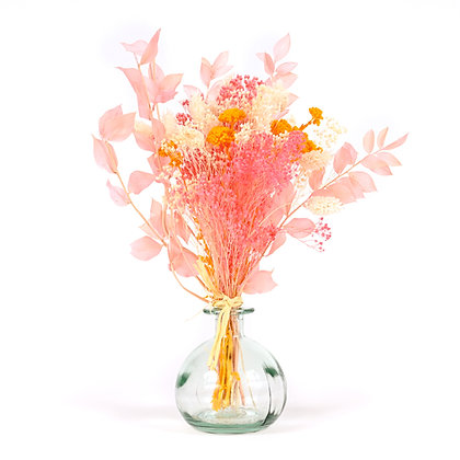Vase de Fleurs séchées  - Ruscus S - Soleil Rose