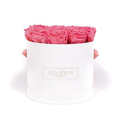 15 Eternal Roses - Rosewood - XL White Round Box