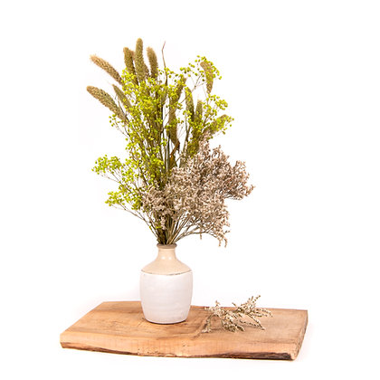 DRIED FLOWERS - GYPSOPHILA VASE 412 - GREEN MEADOW