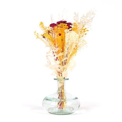 Vase de Fleurs séchées  - Ruscus S - Jaune d'Or