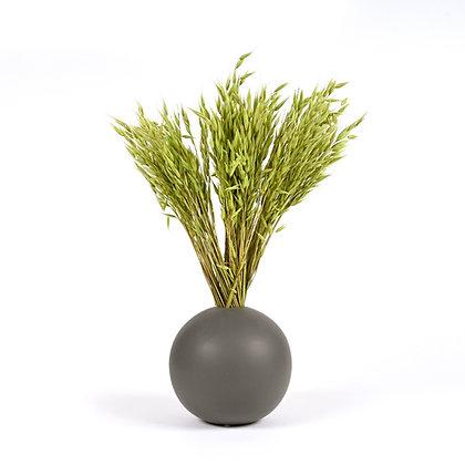 Vase Boule de Graminées séchées Vert Prairie