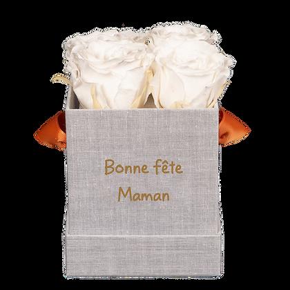 Box 4 roses éternelles - Edition limitée - Fête des Mères