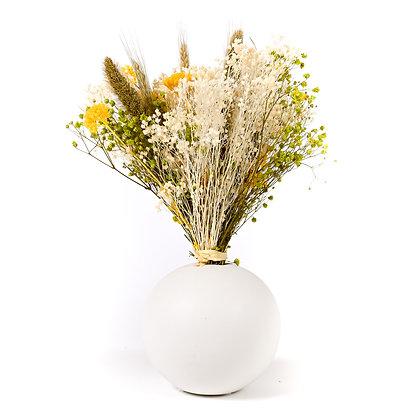 Vase Boule de Fleurs séchées - Setaria Vert Prairie