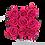 Thumbnail: 9 Roses Eternelles Fuchsia Peps - Box carrée Noire