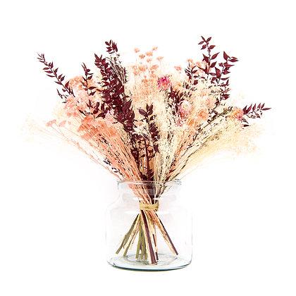 Bouquet de Fleurs séchées - Ruscus XL - Carmin intense