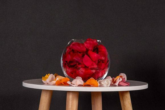 Pétales de Roses Eternelles - Boule L -  Rouge Passion