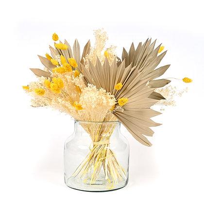 Bouquet de Fleurs séchées - Sun Palm - Jaune d'Or