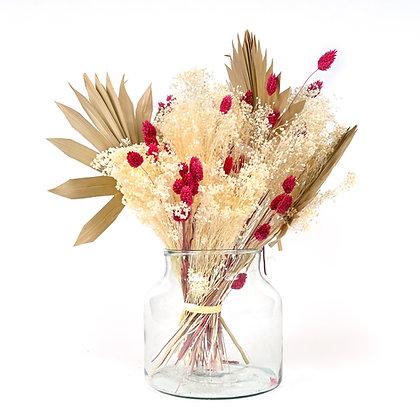 Bouquet de Fleurs séchées - Sun Palm - Fuchsia peps