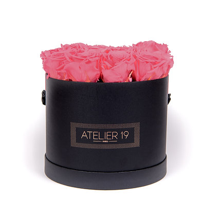 15 Eternal Roses - Rosewood - XL Black Round Box