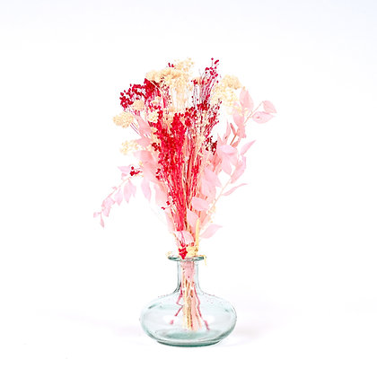 Vase de Fleurs séchées  - Ruscus S - Fuchsia Peps