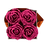 Thumbnail: 4 Eternal Roses - Fuchsia Peps - Grey square Box