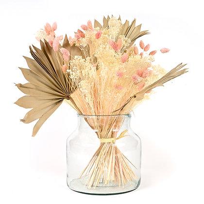 Bouquet de Fleurs séchées - Sun Palm - Rose Tendre