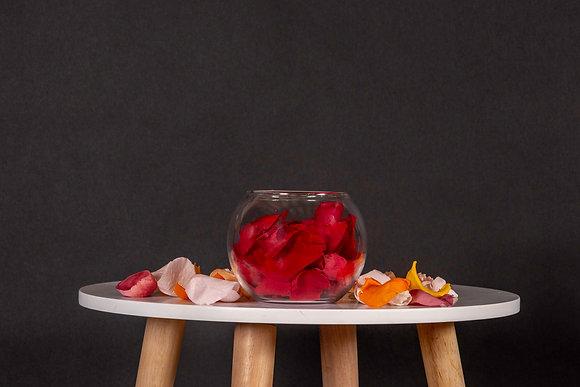 Pétales de Roses Eternelles - Boule M -  Rouge Passion