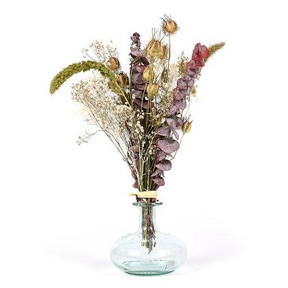 Vase de Fleurs séchées  - Eucalyptus S - Pourpre