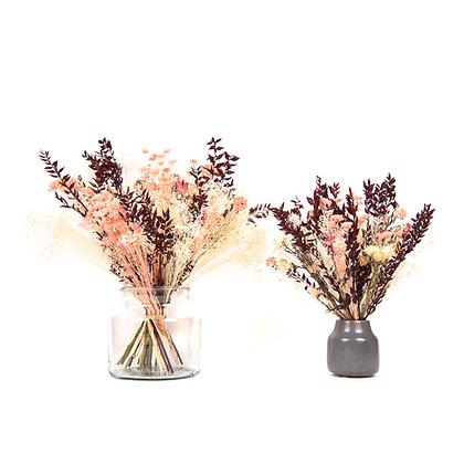 Bouquet de Fleurs séchées - Ruscus Carmin Intense