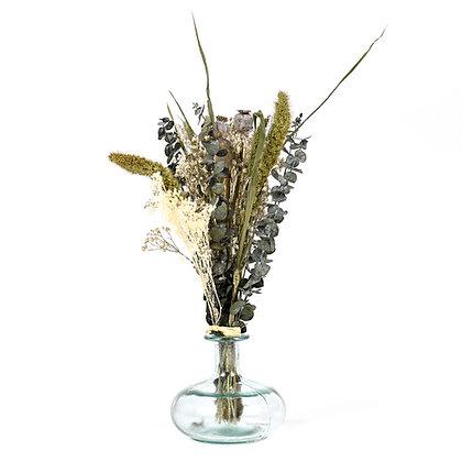 Vase de Fleurs séchées  - Eucalyptus S - Vert Bleuté
