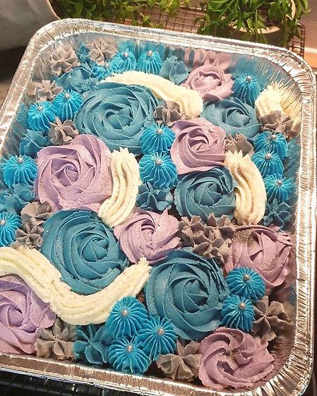 galaxy tray cake