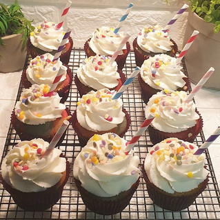 Birthday cupcakes with buttercream