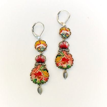 Ayala Bar - Coral Rose Earrings