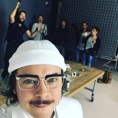 Daniel Stern on Set