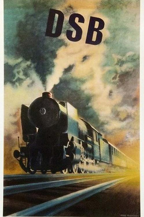DSB Steam Train Poster