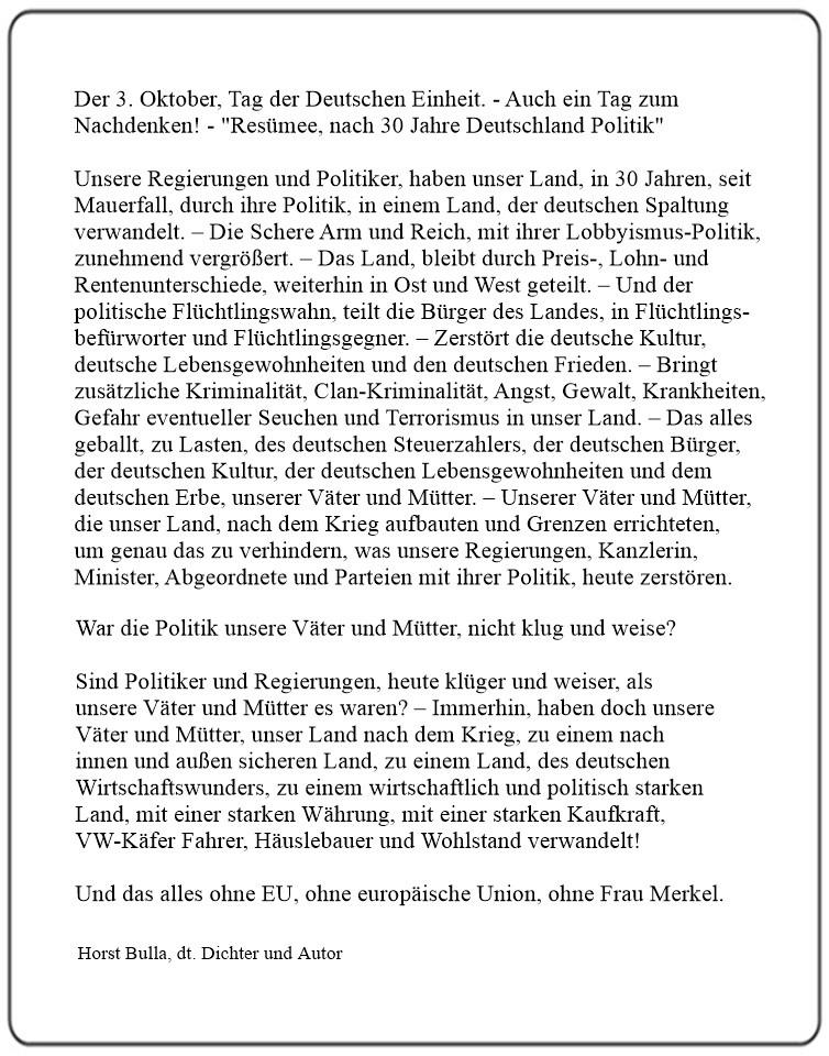Der_3._Oktober,_Tag_der_Deutschen_Einheit._-_Resümee,_nach_30_Jahre_Deutschland_Politik_-_Langversion__-_Horst_Bulla