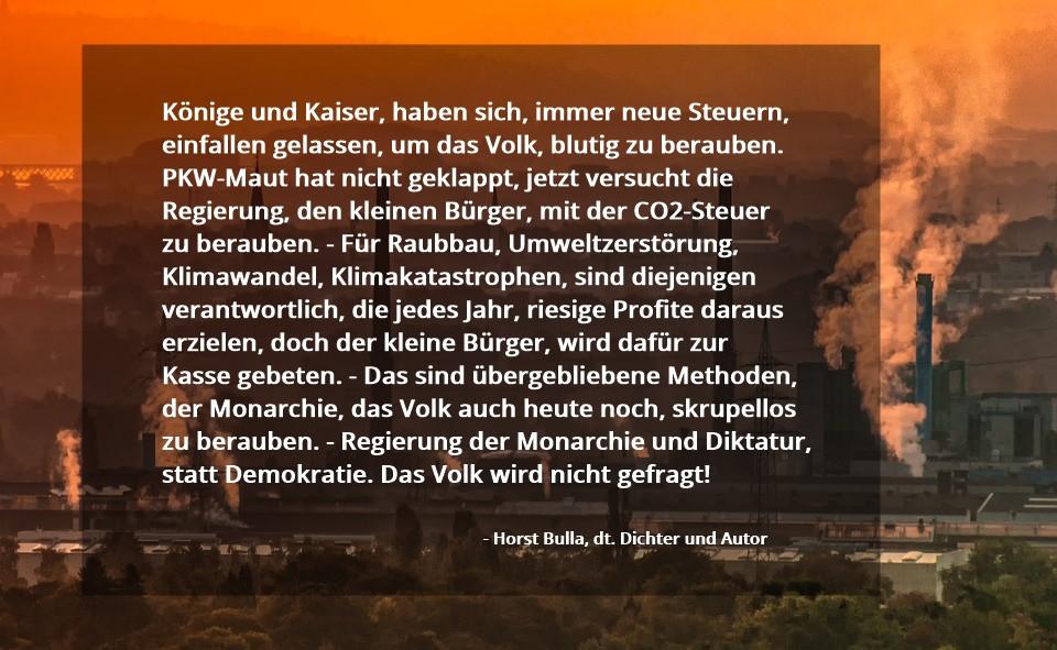 CO2-Steuer - Horst Bulla