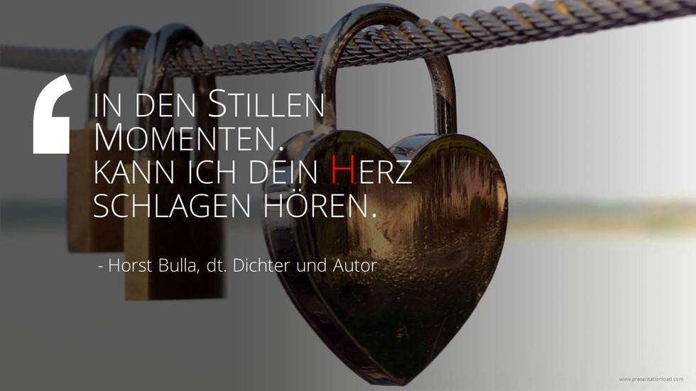 In den stillen Momenten. - Horst Bulla