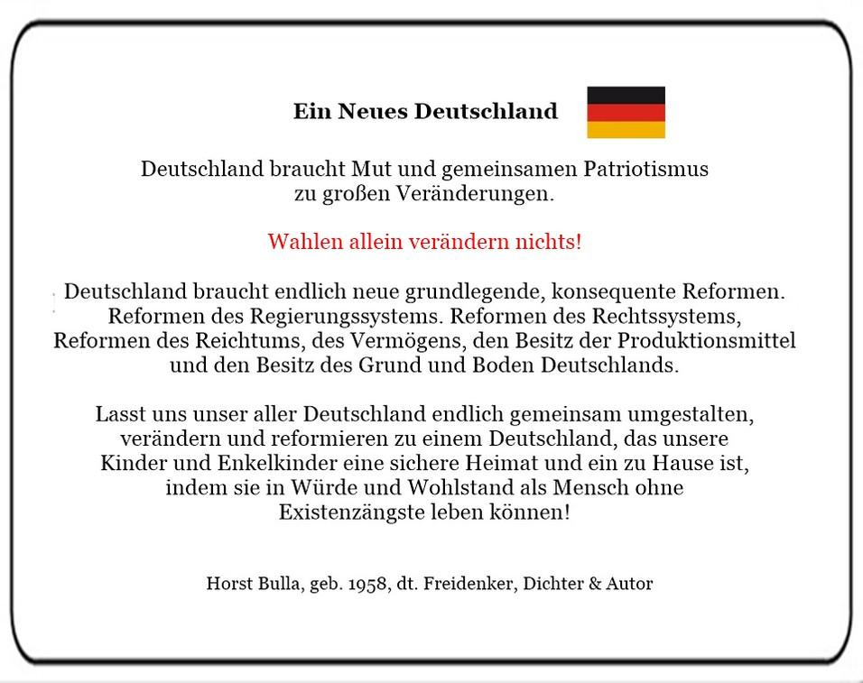Ein Neues Deutschland. Deutschland braucht Reformen.