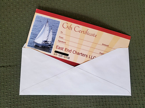 Half-Day Charter Gift Certificate