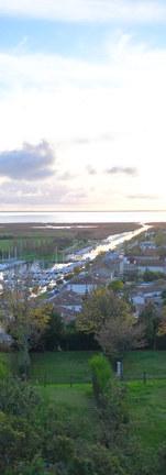 Vue du belvedère de Mortagne sur Gironde