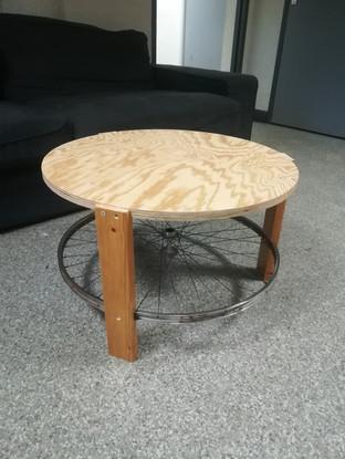 Table roue de vélo