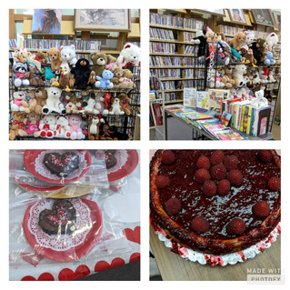 Loving your Library with a sweet fundraiser!  Books, Brownies & Bears Feb. 12-14th during librar