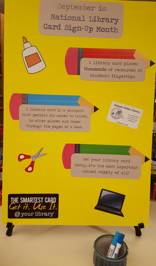 Library Card-An Important School Supply!