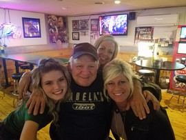 Ron & the girls at Lee's Sports & Spirits where you can come check out Harley Taylor Plain City, Ohio