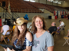 Charlie Bacall & Julie Chutes at the Marion County Fair with Harley Taylor