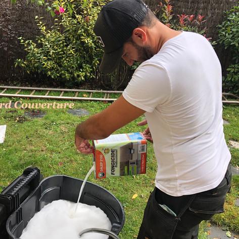 Traitement anti mousse hydrofuge