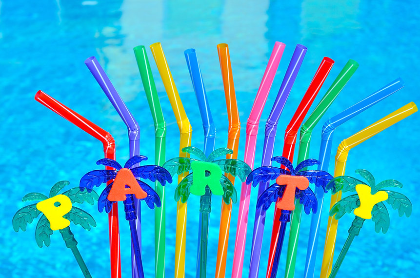 Pool Party Straws