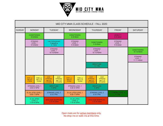Mid City MMA Fall 2020 Schedule.jpg