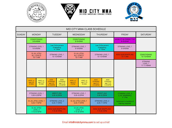 April Schedule