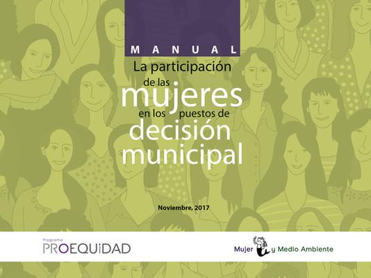 Manual: La participación de las mujeres en los puestos de decisión municipal