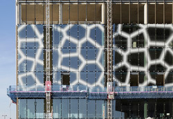 The Spine glazing panels in place