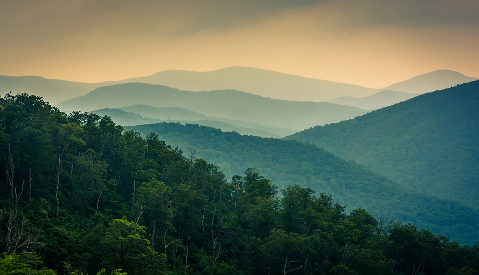The Blue Ridge Mountains, seen from Skyl