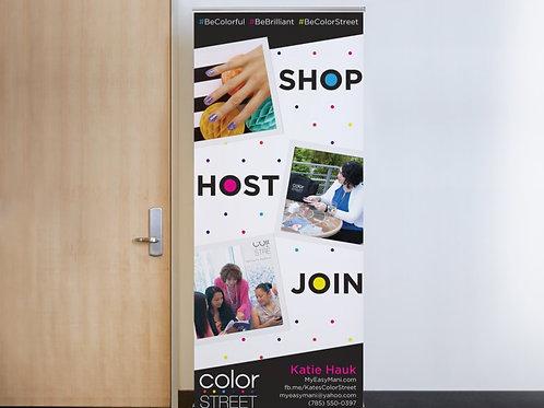 Shop Host Join - Retractable Banner
