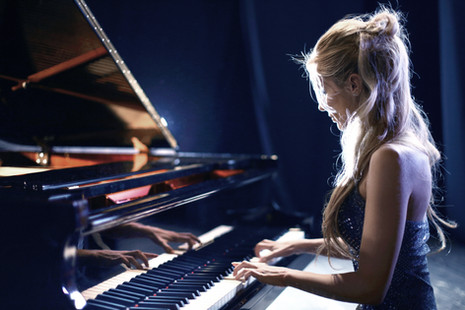Piano playing & singing puts color into our world!