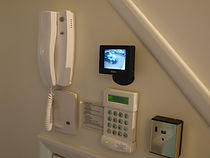 cctv, panic alarm, video door entry and burglar alarm systems on display